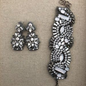 Stella & Dot Gala bracelet and earrings set